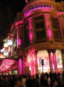 12.7f.05.Galleries LaFayette.rue Hausmann